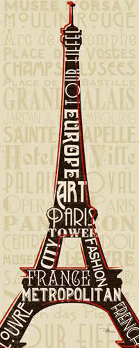 Paris City Words I von Pela Studio