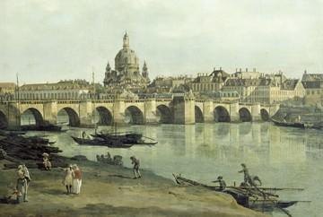 Dresden vom rechten Elbufer von Canaletto