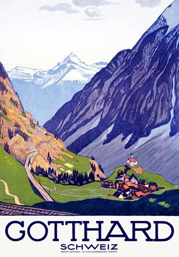 Gotthard, Schweiz von Emil Cardinaux