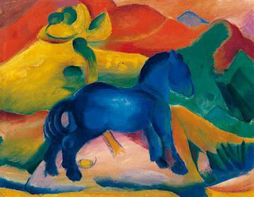 Blaues Pferdchen von Franz Marc