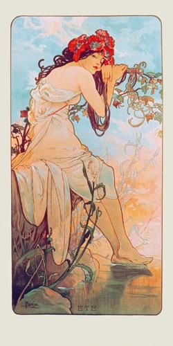Sommer 1896 von Alfons Mucha