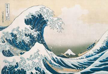 Die grosse Welle von Kanagawa von K. Hokusai