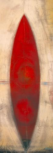 Triptyque rouge II von Carole Becam