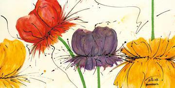 Blumen Fantasie II von Sylvia Haigermoser