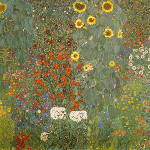 Bauerngarten mit Sonnenblumen von Gustav Klimt