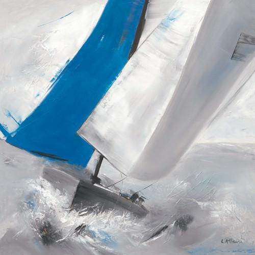 Voile bleue I von Lydie Allaire