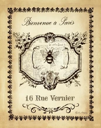Paris Bees I von Emily Adams