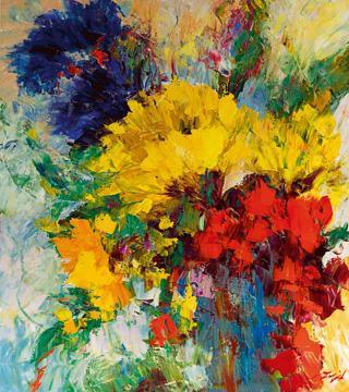 Blumenfreude I von Madjid