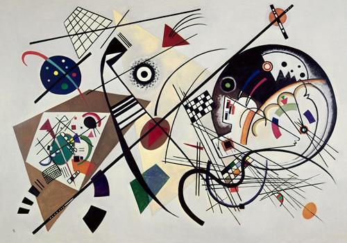 Durchgehender Strich 1923 von Wassily Kandinsky
