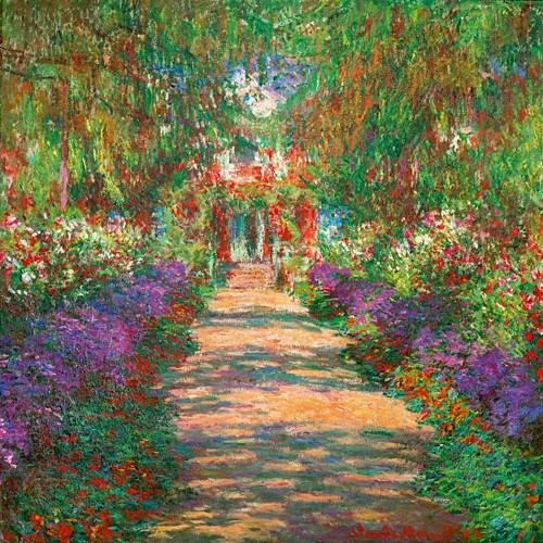 Garten in Giverny von Claude Monet