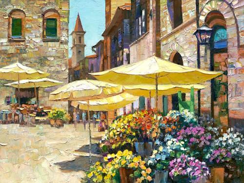 Sienna Flower Market von Howard Behrens