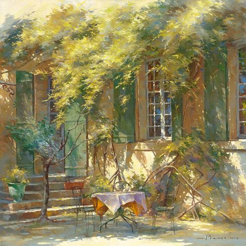 La terrasse du cheteau von Johan Messely