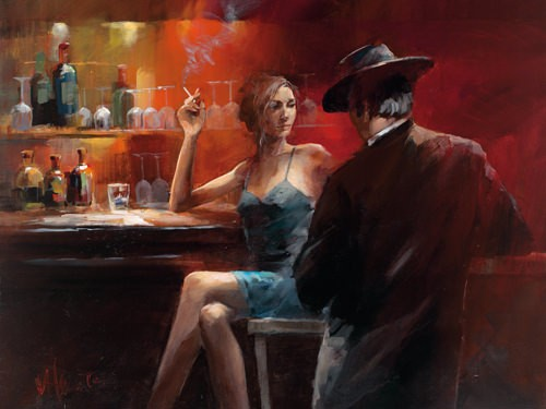 Evening in the Bar II von Willem Haenraets