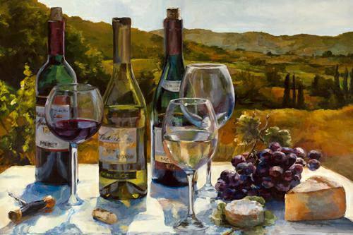 A Wine Tasting von Marilyn Hageman