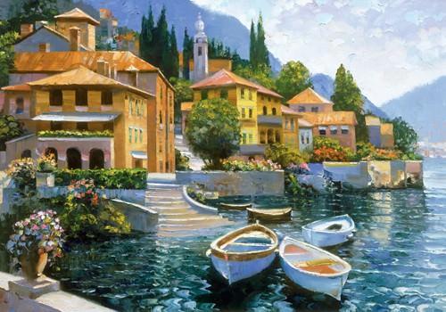 Lake Como Landing von Howard Behrens