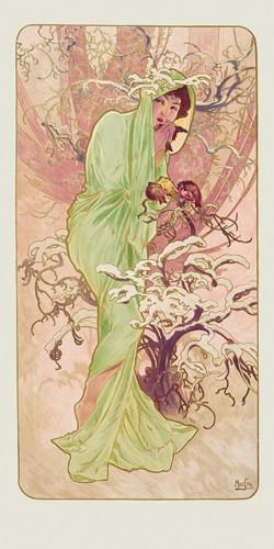 Winter 1896 von Alfons Mucha