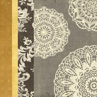 Contemporary Lace I - Yellow Grey von Moira Hershey