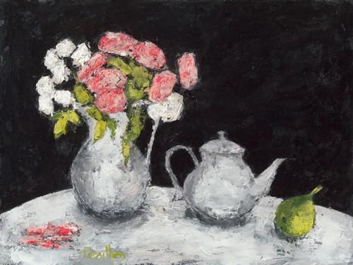 Theiere et roses deElisa von Franeoise Persillon