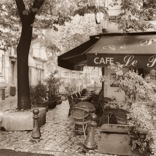 Cafe, Aix-en-Provence von Alan Blaustein