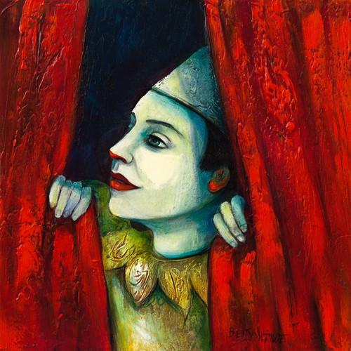 Derriere le rideau II von Betty Wittwe