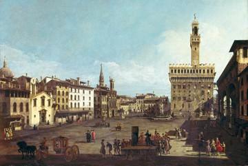 Die Piazza della Signorina in von Canaletto