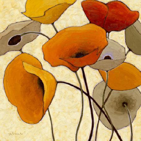 Pumpkin Poppies III von Shirley Novak