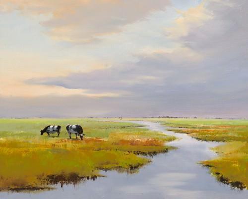 Grazing Cattle von Jan Groenhart