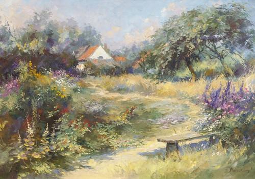 Le jardin du peintre von Paul Messely