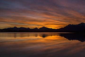 Berge und Licht V von Gerhard Rossmeissl