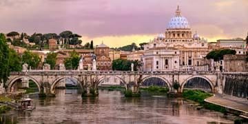 Blick über dem Tiber, Rom von Susanne Kremer