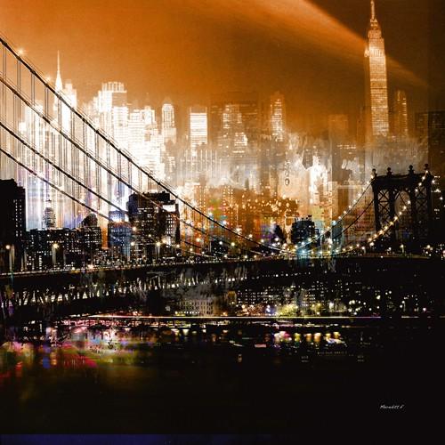 Brooklyn Bridge by Night von Mereditt.f