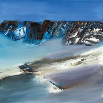 Eislandschaft III von Conny Roßkamp