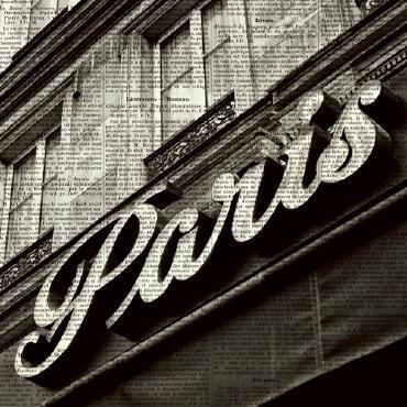 Newsprint Paris von Marc Olivier