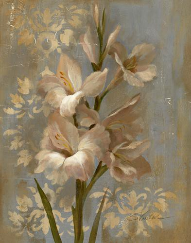 Gladiola on Soft Blue von Silvia Vassileva