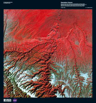 Desolation Canyon von Landsat-7