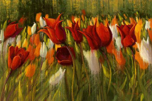 Tipsy Tulips von Shirley Novak