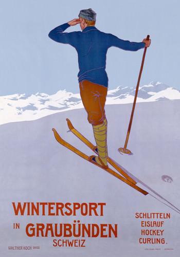 Wintersport in Graubenden von Walther Koch