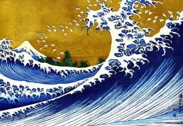 Grosse Welle von K. Hokusai