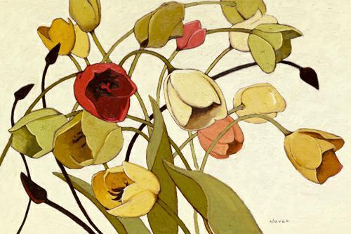 Tulip Toss von Shirley Novak