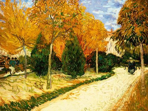 Park im Herbst von Vincent van Gogh