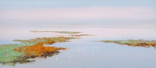 Sunset with Birds von Jan Groenhart