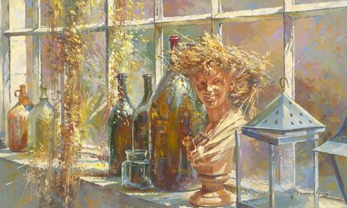 Jeune fille au chapeau de paille von Johan Messely