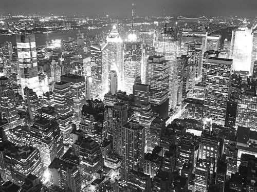 Overlooking Times Square von Aurelien Terrible
