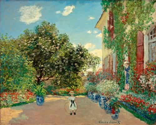 Haus des Kenstlers in  Argenteuil von Claude Monet