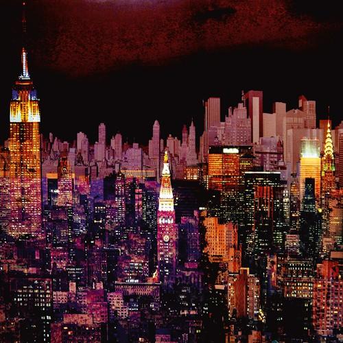 New York by Night I von Mereditt.f