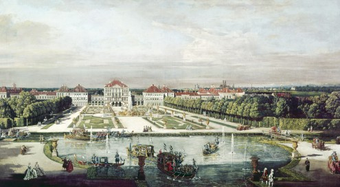 Schloß Nymphenburg, München von Canaletto