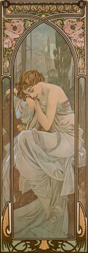 Nachtruhe von Alfons Mucha