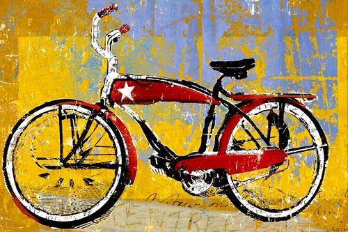 Red Bike with Star von Daryl Thetford