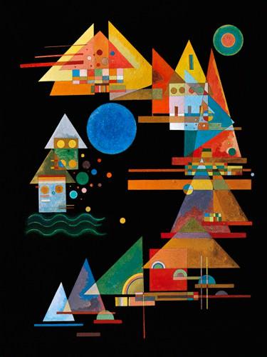 Spitzen im Bogen von Wassily Kandinsky