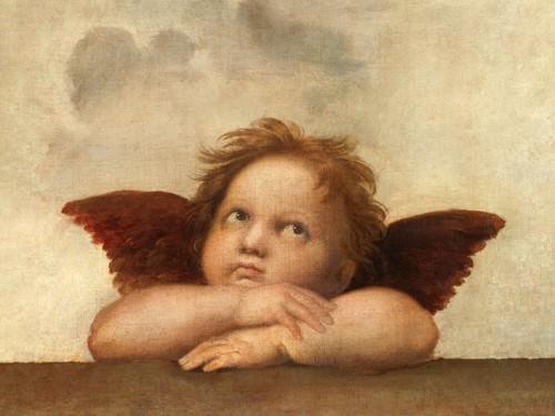 Die Sixtinische Madonna (Detail) IV von Raffael